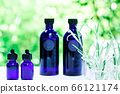 用绿色精油和载体油包裹的香薰疗法 66121174