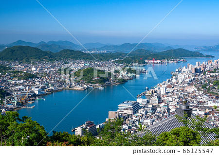 <<Hiroshima Prefecture>> Onomichi cityscape and early summer morning <<From Jodoji Observatory>> 66125547