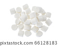 Marshmallow isolated on white background with clipping path and full depth of field. Top view. Flat lay 66128183