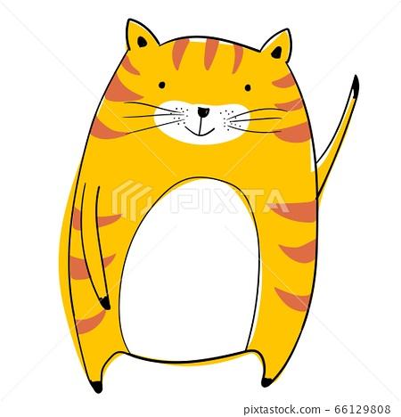 可愛的動物矢量插畫 66129808