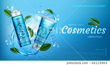 Cosmetic products for hair care in water splash 66129964