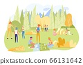 Children on Camping Trip with Geography Teacher. 66131642