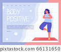 Attractive Overweight Woman Doing Yoga Webpage 66131650