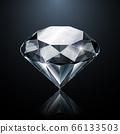 Dazzling diamond on black background 66133503