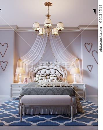 Design a room for a teenager in a classic style. A 66134515