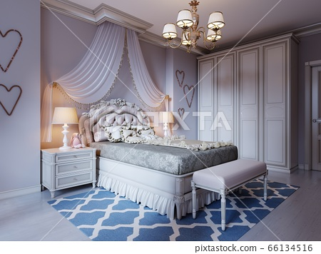 Design a room for a teenager in a classic style. A 66134516