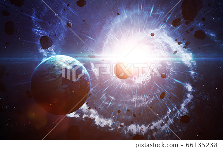 Star explosion in space 66135238