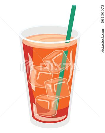 一杯冰茶的插圖 66136072