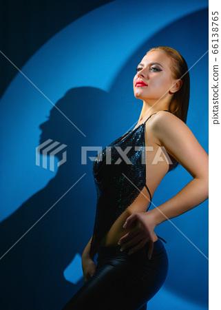 Fashion art studio portrait 66138765