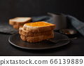 Delicious toasts with sweet jams. 66139889