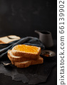 Delicious toasts with sweet jams. 66139902