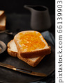 Delicious toasts with sweet jams. 66139903