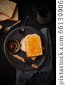 Delicious toasts with sweet jams. 66139906