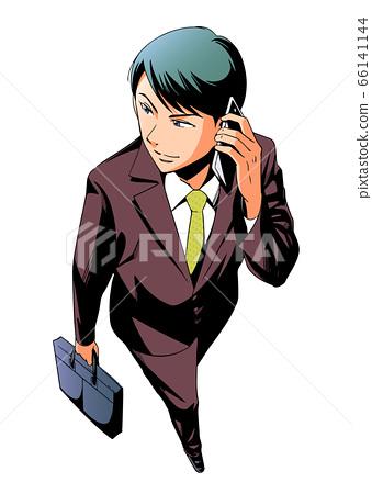 英俊的商人:有手機的人 66141144