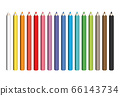 Colorful spectrum of pencils. Sharpened crayons set. Vector illustration 66143734