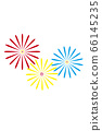 [Summer image] Fireworks (white background illustration) 66145235