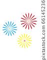 [Summer image] Fireworks (white background illustration) 66145236