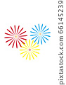 [Summer image] Fireworks (white background illustration) 66145239