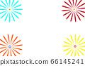 [Summer image] Fireworks (white background illustration) 66145241