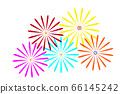 [Summer image] Fireworks (white background illustration) 66145242