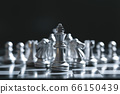 King of battle chess game stand on chessboard with 66150439