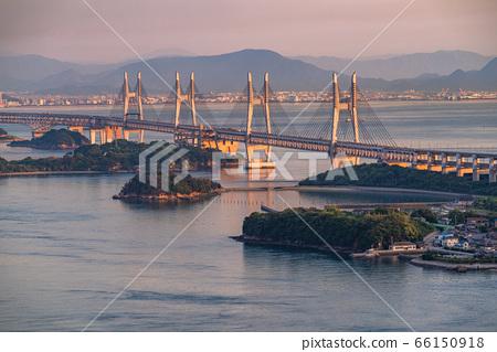 《岡山縣》初夏黃昏的瀨戶大橋《從和碩山出發》 66150918