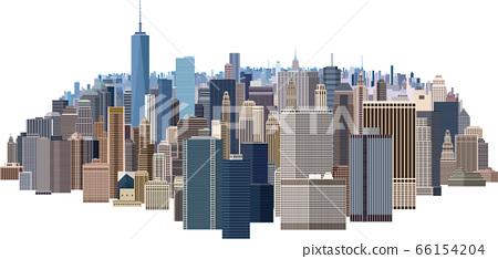 大城市的摩天大樓 66154204