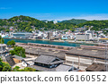 《Hiroshima Prefecture》Cityscape of Onomichi downtown/blue sky in early summer 66160552