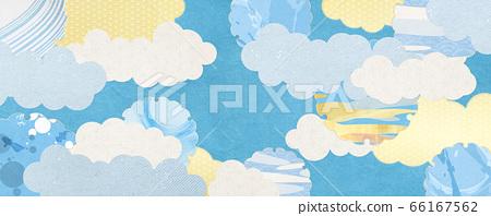 日式背景素材-夏天的圖像-帶有清新感的日式圖案 66167562