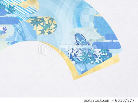 일본식 배경 소재 - 여름 이미지 - 청량감있는 일본식 디자인 - 부채 66167577