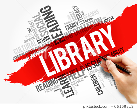 Library word cloud collage, education concept 66169515