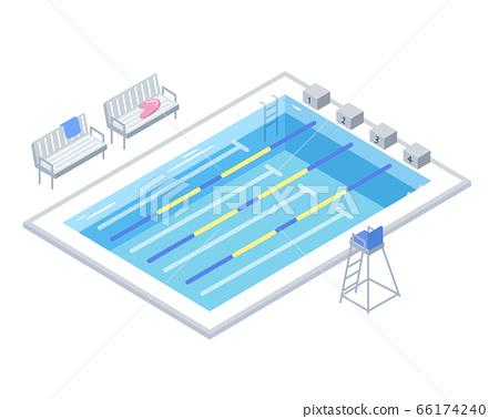 Standard pool illustration (school/gym) (isometric) 66174240