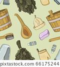 Bath house sauna hot water pattern 66175244