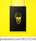 Hand drawn angry skull of Santa Claus 66175248