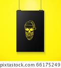 Hand drawn angry skull of Santa Claus 66175249
