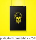 Hand drawn angry skull of Santa Claus 66175250
