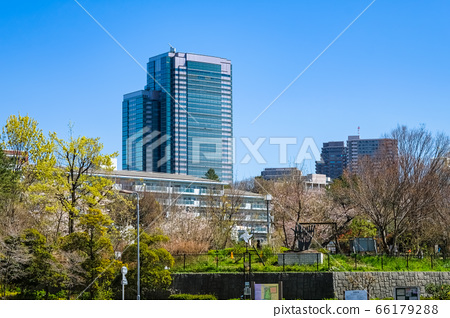 Tokyo Ebisu Garden Place Tower and cityscape from Nakameguro 66179288