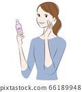 女人涂防晒霜紫外线护理 66189948