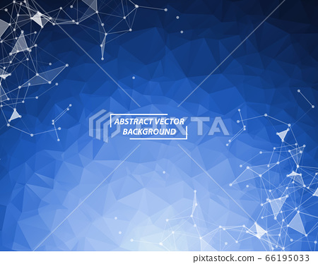 Blue Polygonal background molecule and 66195033