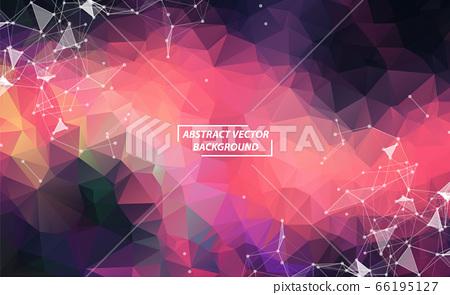 Dark Pink Geometric Polygonal background molecule 66195127