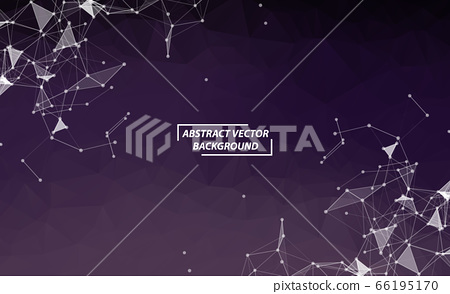Abstract Purple Polygonal Space Background with 66195170