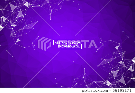 Abstract Purple Polygonal Space Background with 66195171