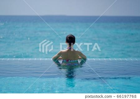 馬爾代夫泳池後視圖 66197768