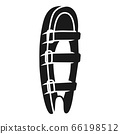 Back side foot protection icon, simple style 66198512