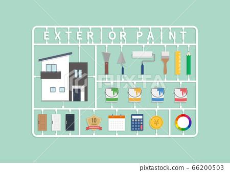 外牆塗料油漆圖圖標 66200503