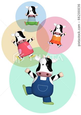 소 가족의 캐릭터 일러스트 66200836