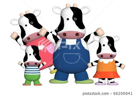 소 가족의 캐릭터 일러스트 66200841