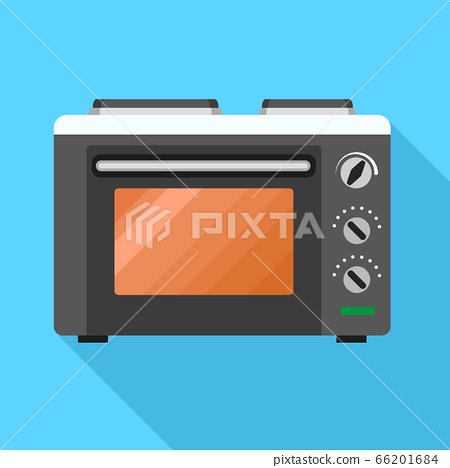 Microwave icon, flat style 66201684