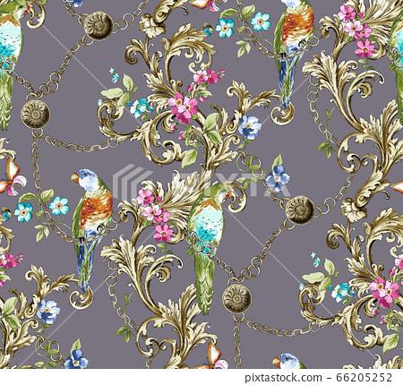 奢華的歐式紋樣素材 66205252