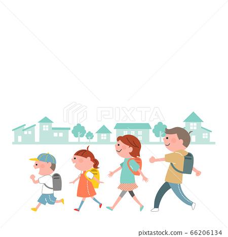 등하교 어린이 거리 66206134